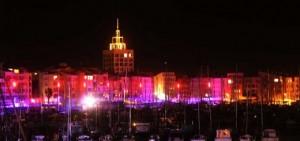 Cap d'Agde - Le Centre-Port la nuit