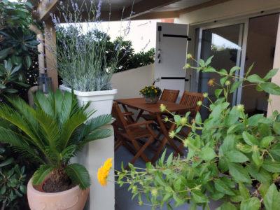 Les Agathes - Cap d'Agde • Le Studio 2 - Le patio couvert
